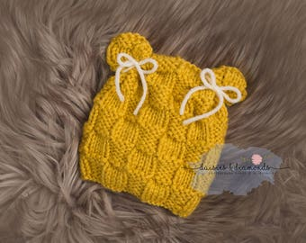 Honey Bear - Newborn Bear Beanie