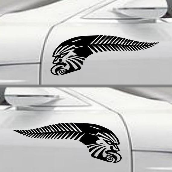 kiwi pride nz sticker silver fern maori tattoo design decals. Black Bedroom Furniture Sets. Home Design Ideas
