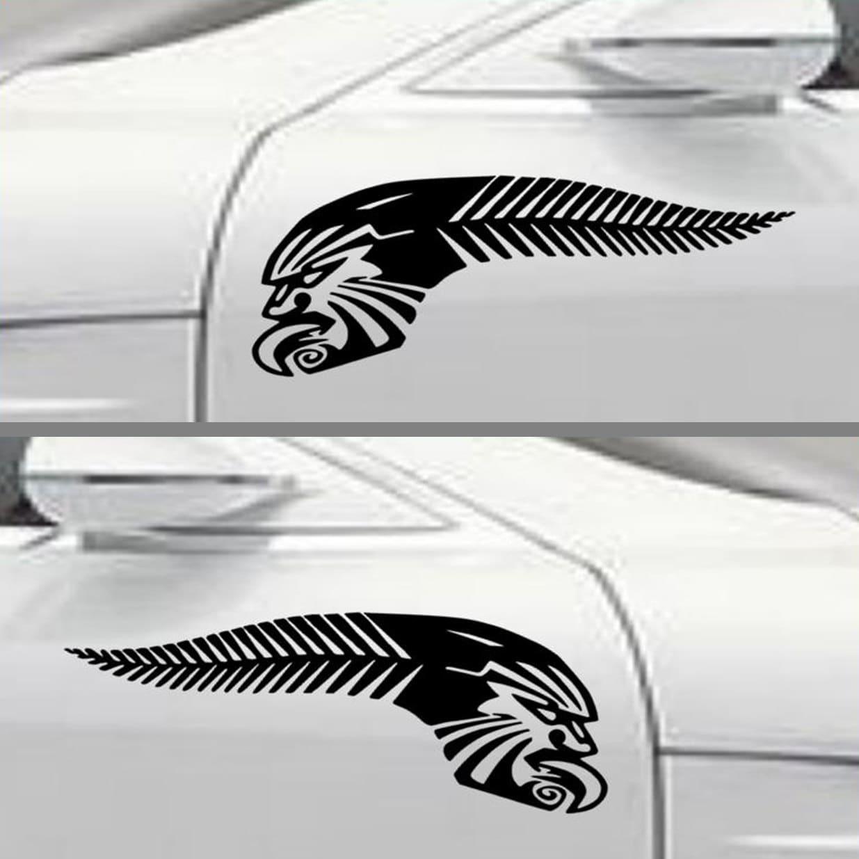Maori Kiwi Tattoo: Kiwi Pride NZ Sticker Silver Fern Maori Tattoo Design Decals