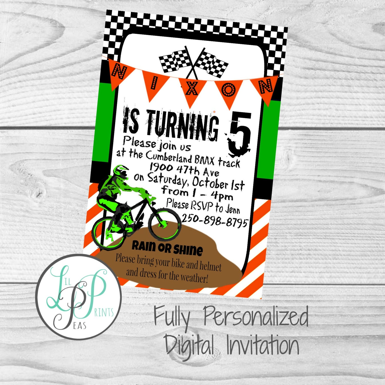 Dirt bike party invitation dirt bike theme party bmx party dirt bike party invitation dirt bike theme party bmx party mountain bike party filmwisefo