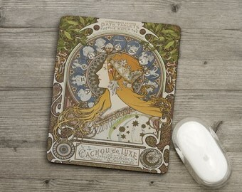 Mousemat - Pad - Alphonse Mucha - Zodiac - Art - French Vintage Poster