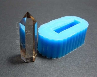 Rubber silicone crystal quartz mold for resin casting. CM16