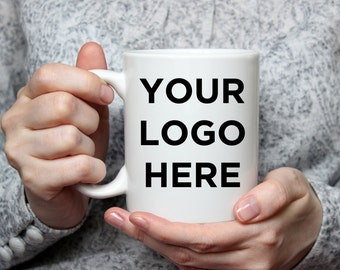 Your Logo On A Mug - Coffee Lover Gift - Custom Order