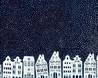 A Snowy Night A3 print