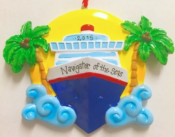 Cruise Ship Personalized Christmas Ornament Tree