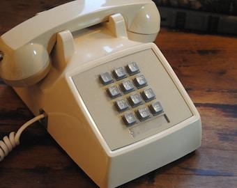 Vintage Push Button Phone/Western Electric Desk Phone/Land Line/Retro Vintage Decor/Telephone/Bell System