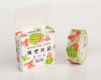 Watermelon washi tape,Masking tape, Fruit tape,Gift wrap,Wedding deco,planner sticker,scrapbooking