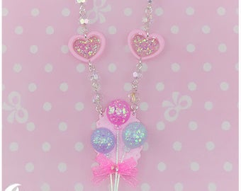Sparkly balloons Necklace