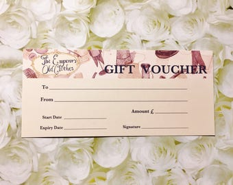 GIFT VOUCHER: Value of one hundred pounds (GBP)