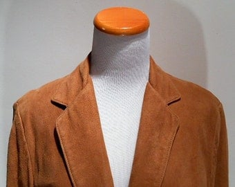 Startown Simple Honey Natural Colored Lamb Suede Jacket, c. 1990
