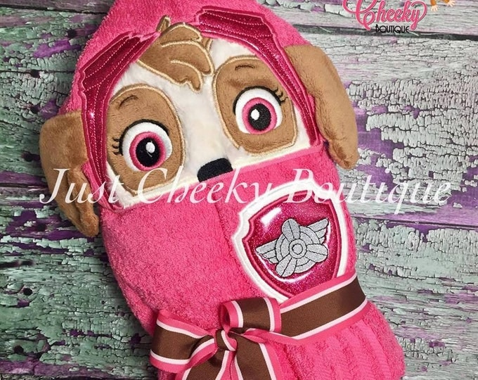 3D Helicopter Pup Inspired Hooded Towel - Paw Patrol - Skye