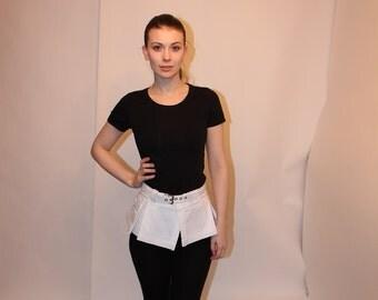 Box pleat utility Micro skirt