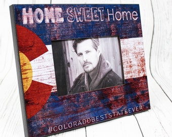 Colorado Picture Frame, Home Sweet Home Vintage, Faux Wood