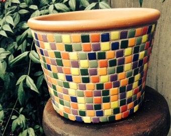 Mosic Flower Pot