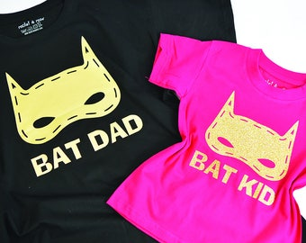 Bat Dad Bat Kid, Like father like son, matchy, similar, alike, father's day, son, daddy, dad, pa, pop, matchy, matching personalised