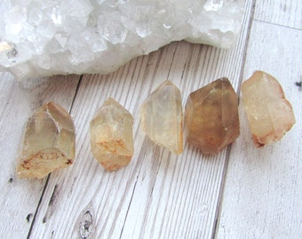 "Small Natural Citrine Point - Raw Rough Gemstone Yellow Specimen From Congo 1""-2"""