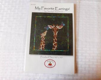 My Favorite Earrings! by Sandy Fitspatrick for Hissyfitz Designs Quilt Pattern