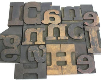 Wooden Letterpress Letters / Large Printing Press Blocks Alphabet / Pick Your Letters