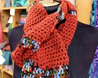 Cozy Rust Variegated Scarf