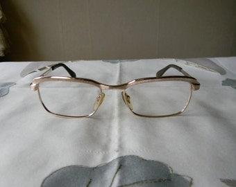 True Vintage Rare METZLER Eyeglasses 50/16  1/10-12K Gold Filled frame. Made in Germany. 60's. Exc*****
