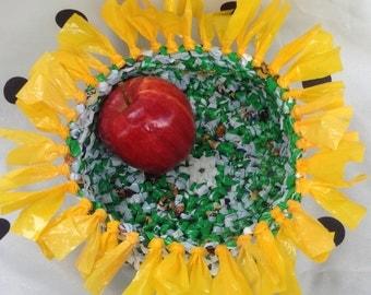 Sunflower Plarn Basket