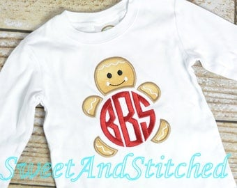 Boys Christmas Shirts, Gingerbread Christmas shirt, baby boy Christmas outfit - Gingerbread Christmas Tee