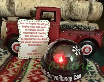 Santa Cam - Elf Cam - Realistic Santa Cam - Santa Camera - Elf Camera - Elf accessory - Santa Surveillance