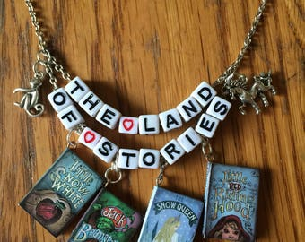 Chrs Colfer's The Land of Stories Inspired Necklace, Reader Jewelry, Book Huggers, Book Jewelry, Fairy Tale Jewelry, Book Lover Jewelry