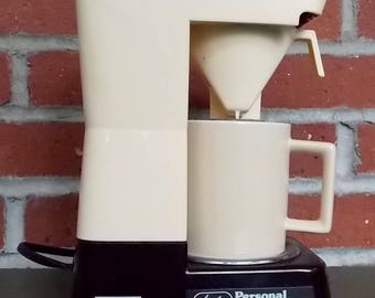 Coffee Maker Working Vintage 1980's Melitta Personal One Cup Travel Coffee Maker with Complete Travel Kit