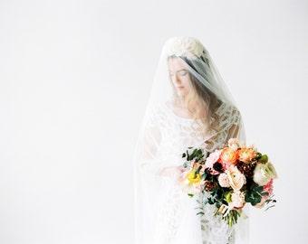 Bridal veil wedding waltz length  - Cécilia