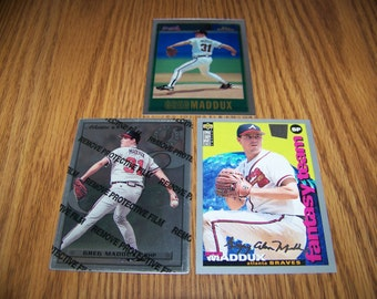 3 Greg Maddux (Atlants Braves) Baseball Cards