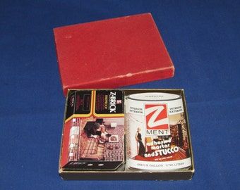 Z brick and Zment PLAYING CARDS ADVERTISING 2 decks