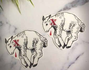 Agnus Dei Temporary Tattoo Temp Tat Christian Traditional Lamb of God Slain Christmas Easter Original Modern Youth Group Stocking Stuffer