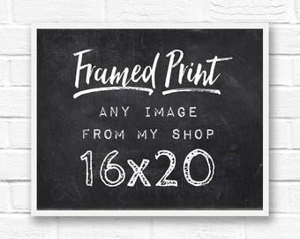 16x20 frame, large framed print, framed photography, framed quotes, custom frame, framed wall art, custom framed quotes, 16x20 wood frame