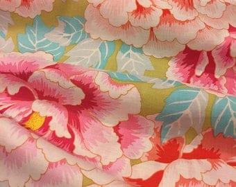 Kaffe Fassett Fabric Phillip Jacobs Stunning - Kimono  GP33 Aqua - 100% Quality Cotton OOP and Rare Yardage