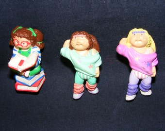 3 Cabbage Patch Kids Figures, Cabbage Patch Kids Dolls, CPK, CPK Figures, Cabbage Patch Kids, CPK toys,Cake Toppers