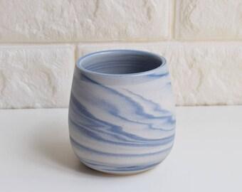 Blue Mug, Ceramic Mug, Ceramic Tumbler, Ceramic Cup, Porcelain Mug, Marbled Mug, Coffee Mug, Tea Cup, Home Decor, DIY, Marbled, Agate, (M5)