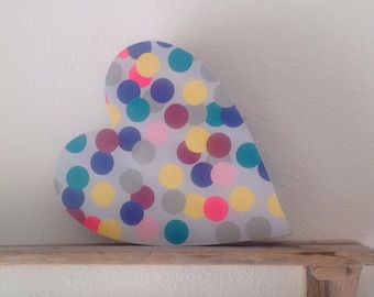 Reversible upcycled decorative cardboard heart