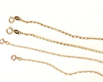 gold chain, 14k chain, solid gold chain, curb chain, rope chain, belcher chain, cable chain
