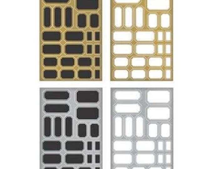 Featured listing image: Tim Holtz Idea-ology METALLIC STICKERS Labels & 3 Chalk MARKERS labels in Gold, Silver, Black, White metallic finish embellishments cc1x