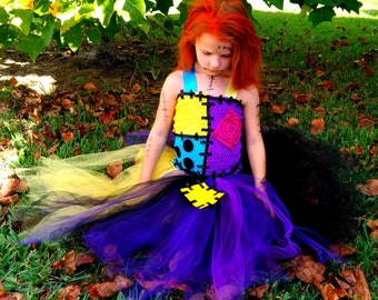 Sally, from Nightmare Before Christmas, inspired tutu dress costume