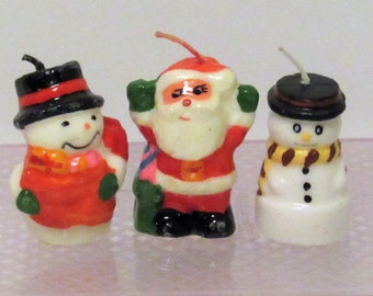 "Christmas Candle Figures, Approx. 2 1/2"" tall, Set of 3"
