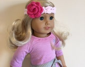 "18"" doll headband will fit dolls such as American Girl"