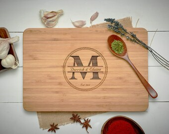 Personalized Cutting Board - Engraved Cutting Board, Custom Cutting Board, Wedding Gift, Housewarming Gift, Anniversary Gift, Engagement-05