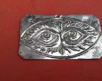 "Vintage ""tama"", sterling silver, votive offering, eyes votive, eyes ex-voto, petition to God, healing supplication, sterling silver 800 (s2)"