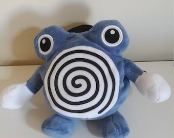 Poliwhirl Pokemon Rock Climbing Chalk Bag made from a plush toy