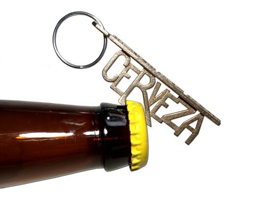 cerveza bottle opener keychain custom customized gift. Black Bedroom Furniture Sets. Home Design Ideas
