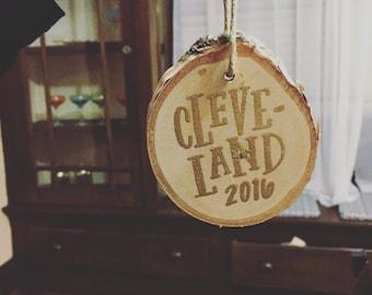 Custom birch ornaments - customizable