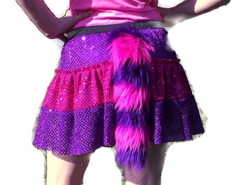 Cheshire Cat skirt with fluffy tail