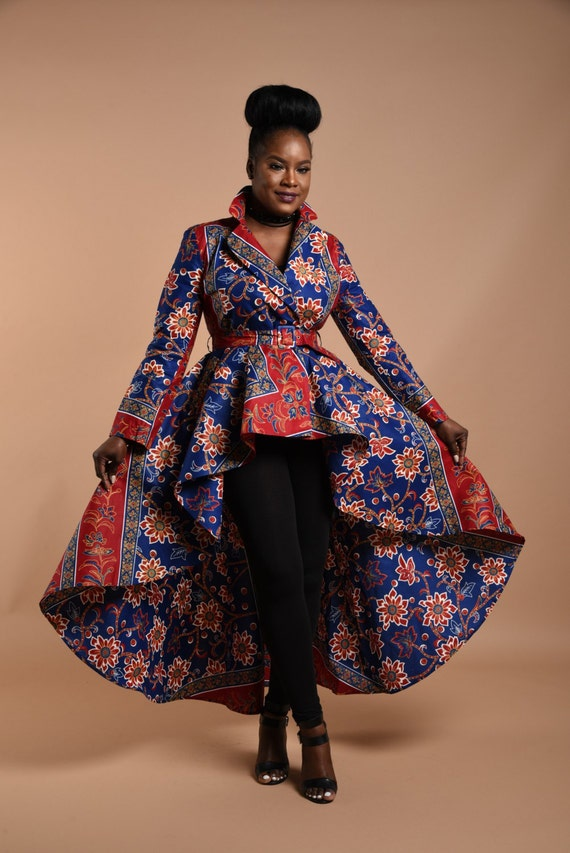 Royal Rose High low Dress Jacket.